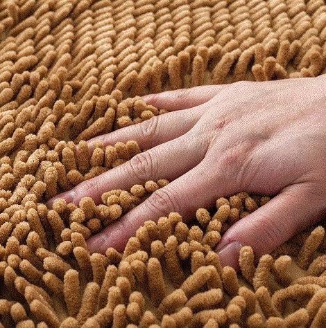 tapete chenille color arena  60x40cm