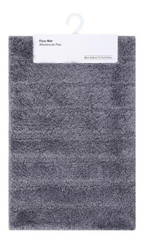tapete com antiderrapante miniso - cor cinza