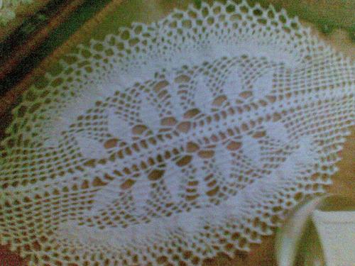 tapete conchas tejido a mano