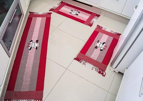 tapete cozinha biju vermelho-linda!