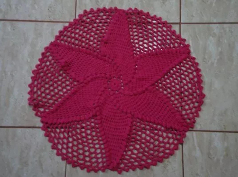 Tapete Redondo Croche No Mercado Livre Brasil -> Tapete Pra Sala De Croche
