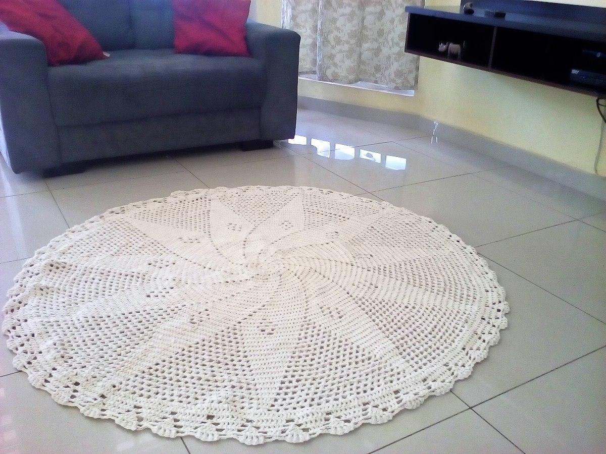 Tapete Croch Sala Grande 1 60metros Promo O Croche Barato R 85  -> Tapete Pra Sala De Croche