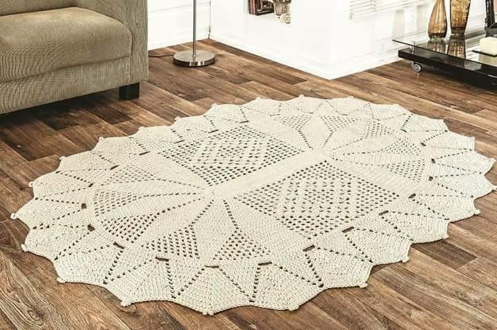 Tapete Croche Retangular Grande Para Sala Ou Quarto R 11999 Em