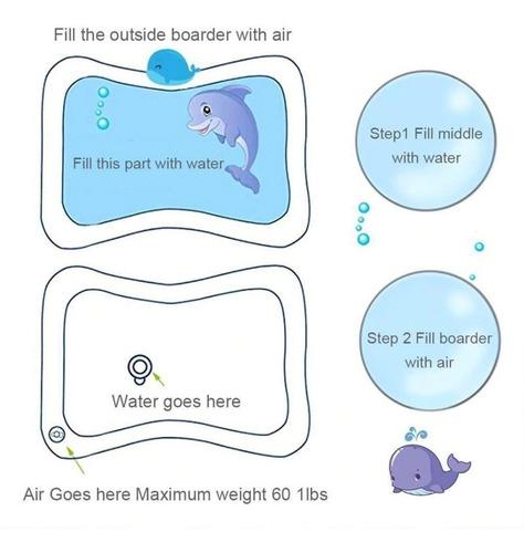 tapete de água inflável atividades para bebê pronta entrega
