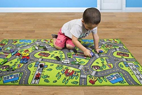 tapete de alfombra para niños alfombra vida de ciudad ideal