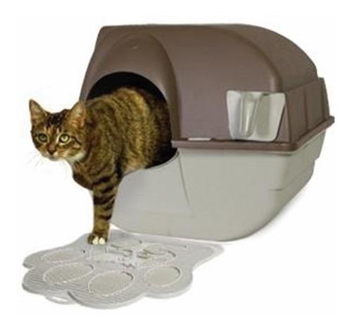 tapete de arenero gato limpieza omega paw litter mat