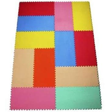 tapete de atividades - 20x40 cm - brinque - cores - 12 peças