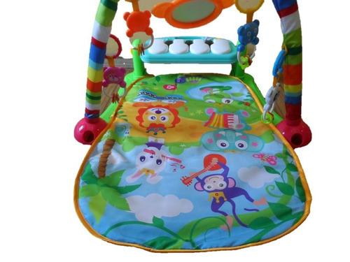 tapete de atividades infantil toca piano 3 em 1 verde e rosa