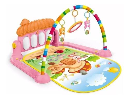 tapete de atividades interativo bebê piano musical
