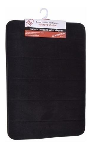tapete de baño absorbente negro mediano namaro design