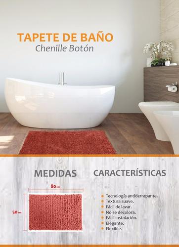 tapete de baño chenille