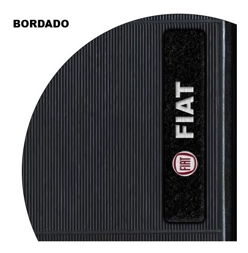 tapete de borracha bordado fiat palio 2008 2009 2010 2011