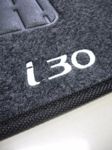 tapete de carpete grafite bordado p/ hyundai i30 2009 a 2012