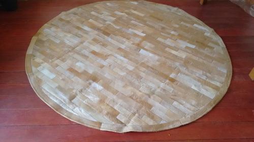 tapete de couro. 2.6 diâmetro