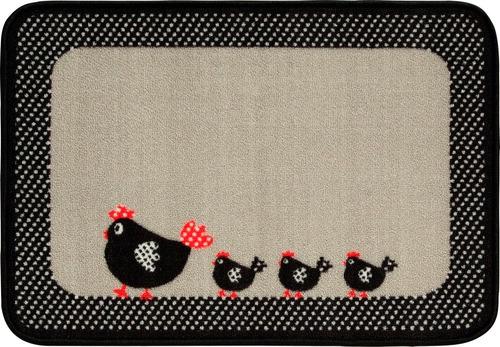 tapete de cozinha 50x70cm galinha bella - copa&cia