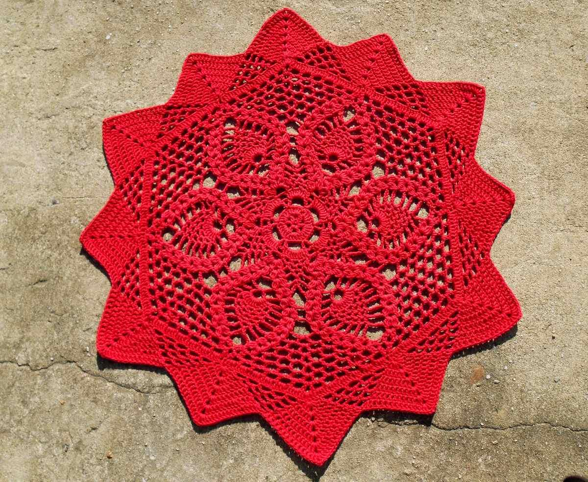 Tapete de croch ou trilho de mesa redondo modelo for Tapete mesa