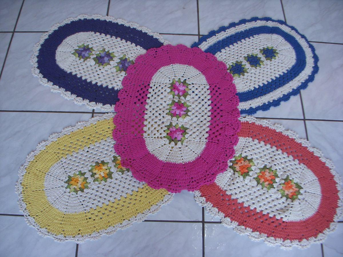 Tapete De Croch Para Porta Sala Cozinha Promo O Imperdi R 45 00  -> Fotos De Tapete De Croche