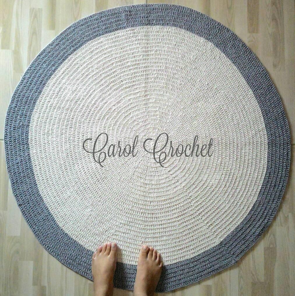 Tapete De Croche Redondo Para Quarto De Bebe Nchome Info -> Tapete De Croche Redondo Passo A Passo