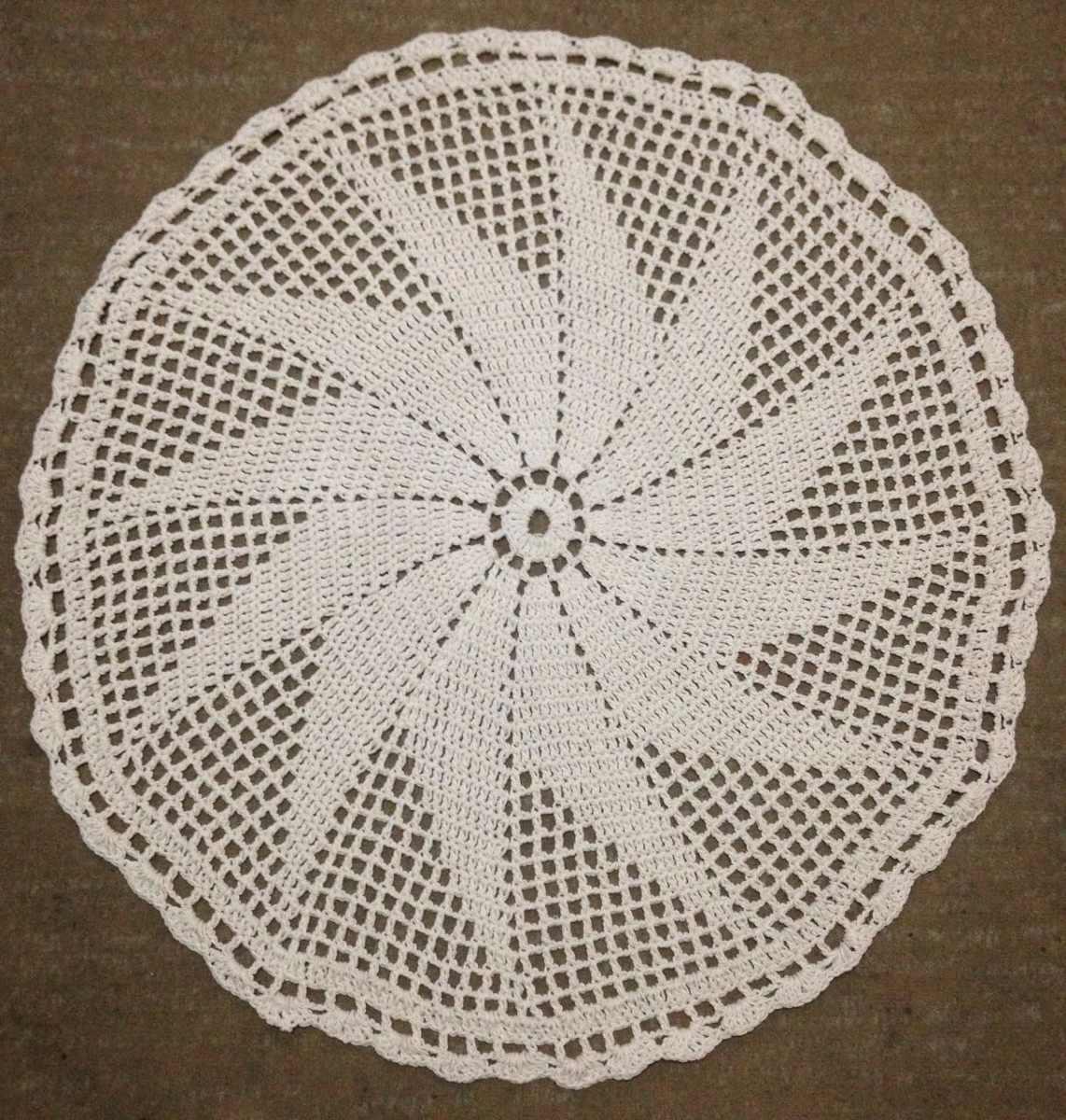 Tapete De Croche Em Barbante Redondo 90cm R 80 00 Em Mercado Livre -> Tapete De Croche Redondo Passo A Passo