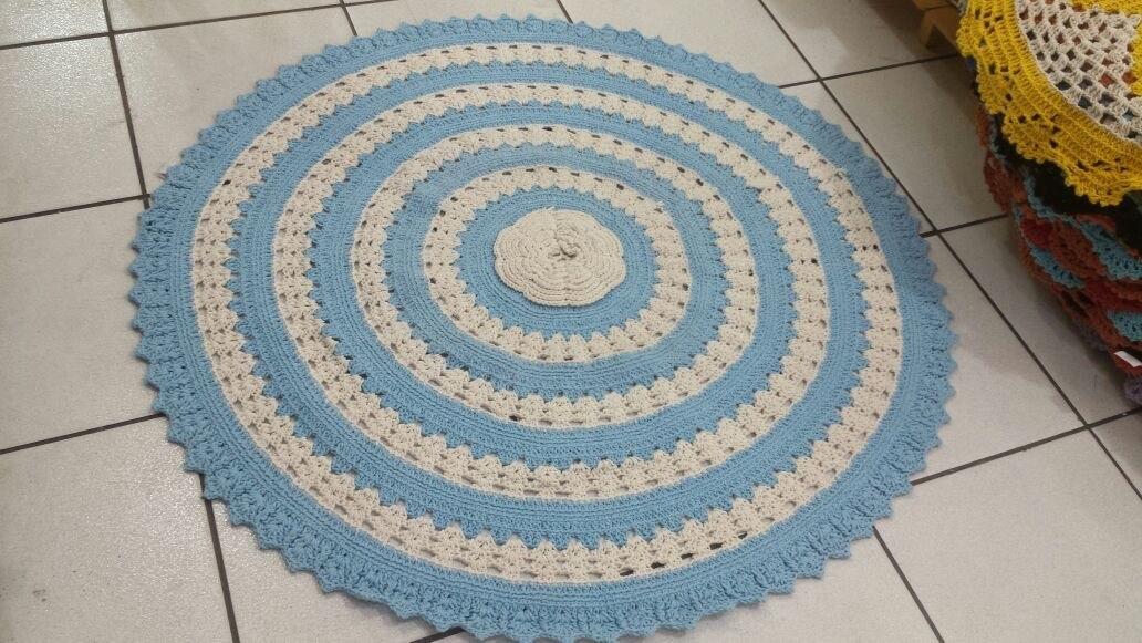 Tapete De Croche Quarto Bebe Menino Azul Tapete Quarto  ~ Tapete Para Quarto De Bebe De Croche