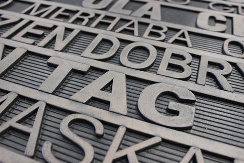 tapete de entrada luxury words 45x75 cm - env gratis!