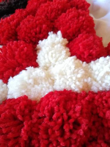 tapete de estambre (corazón) 100% hecho a mano