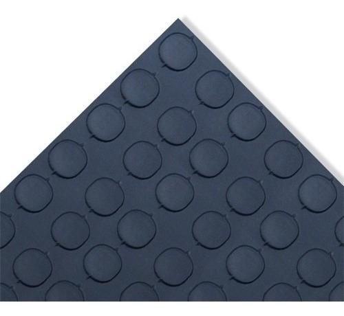 tapete de piso de pvc antiderrapante tachon negro de 1.60