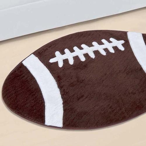 tapete de quarto infantil bola futebol americano - decoração