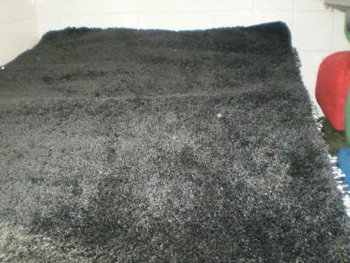tapete de sala e quarto shaggy preto  1,50x1,00