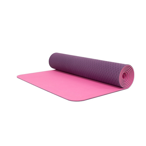 tapete de yoga/ yoga mat 6mm  bodyfit bf-ym06tx-md morado