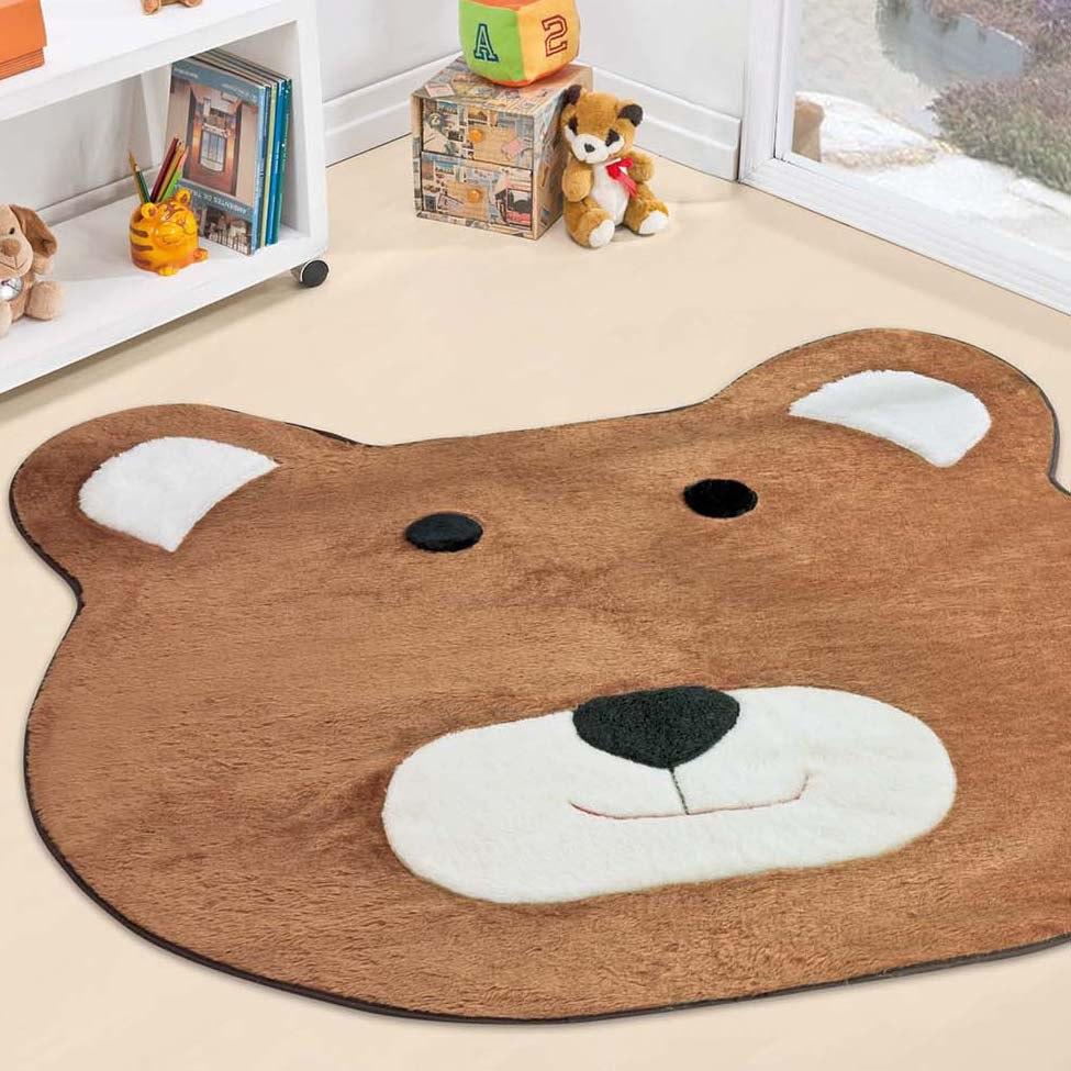 Tapete Urso Big Quarto Menino Decoração Infantil R$ 93  ~ Tapete Infantil Para Quarto Urso