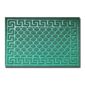 Tapete Decorativo Entrada Brocad 40x60 Cm Verde Si-karai