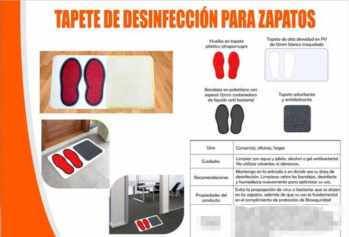 tapete desinfección para zapatos