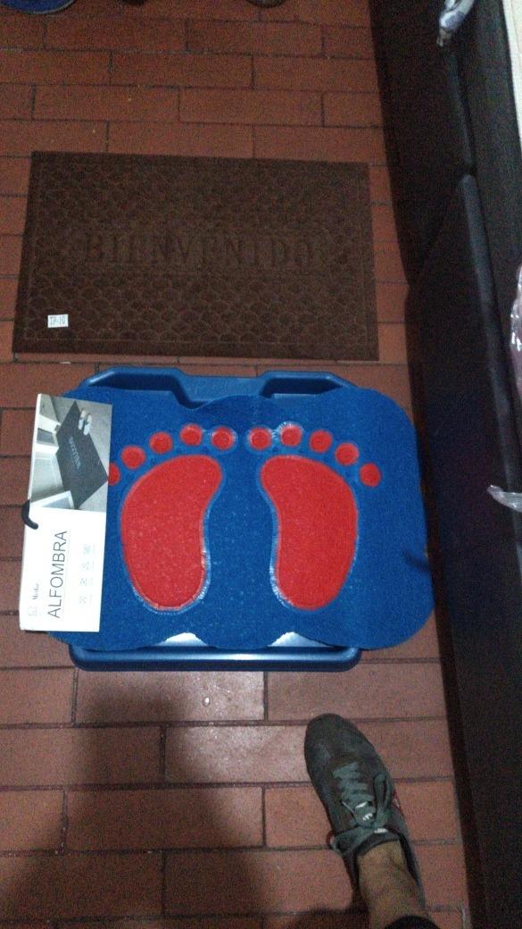 tapete desinfección zapatos