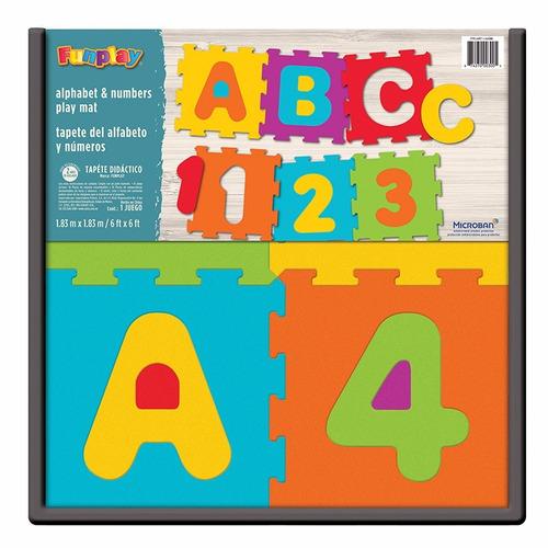 tapete didáctico alfabeto y números 36 piezas