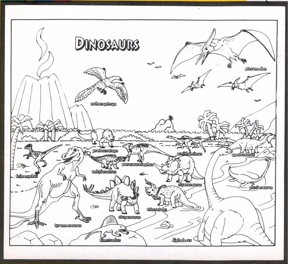 Hermosa Tren De Dinosaurios Para Colorear Para Imprimir ...