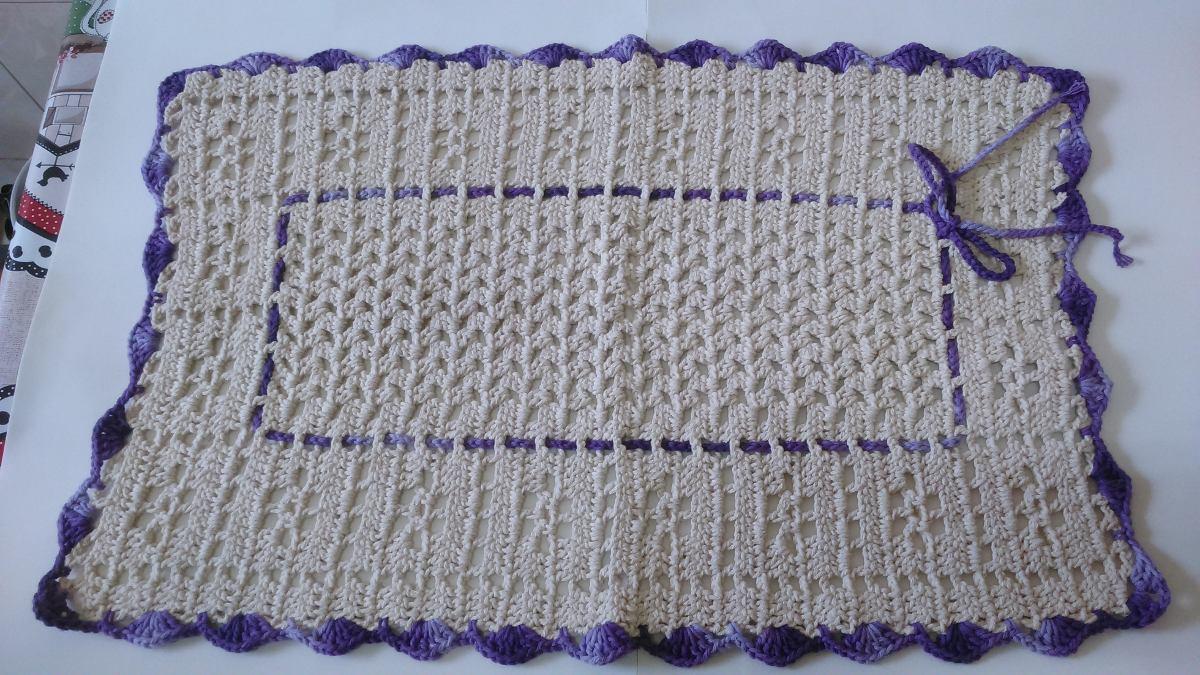 Tapete Em Croche Para Porta R 42 00 Em Mercado Livre -> Fotos De Tapete De Croche