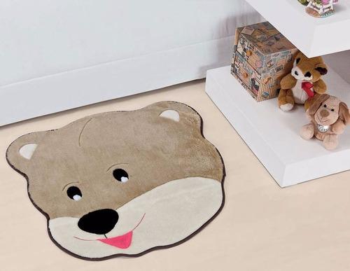 tapete em pelúcia urso carinhoso castor para quarto infantil