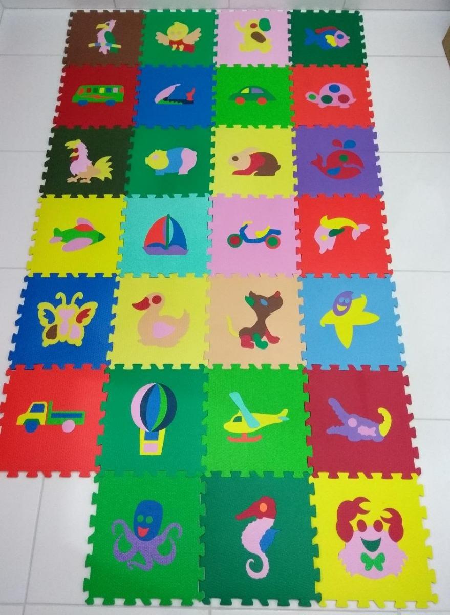 0bd8725ec94 tapete emborrachado eva infantil tatame colorido 18 peças. Carregando zoom.