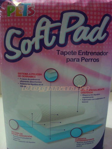 tapete entrenador 14pzs para baño softpad cachorro fancypets