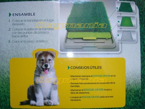 tapete entrenador doggie grass 68x43 chico pasto sintetico