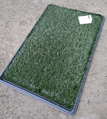 tapete entrenador pasto sintetico doggie grass grande 76x50