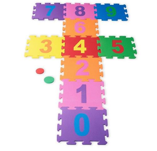 tapete eva alfabeto + números educativo 36 tatames atoxico