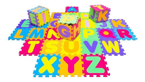 tapete eva colorido alfabeto abc 26 peças 8mm