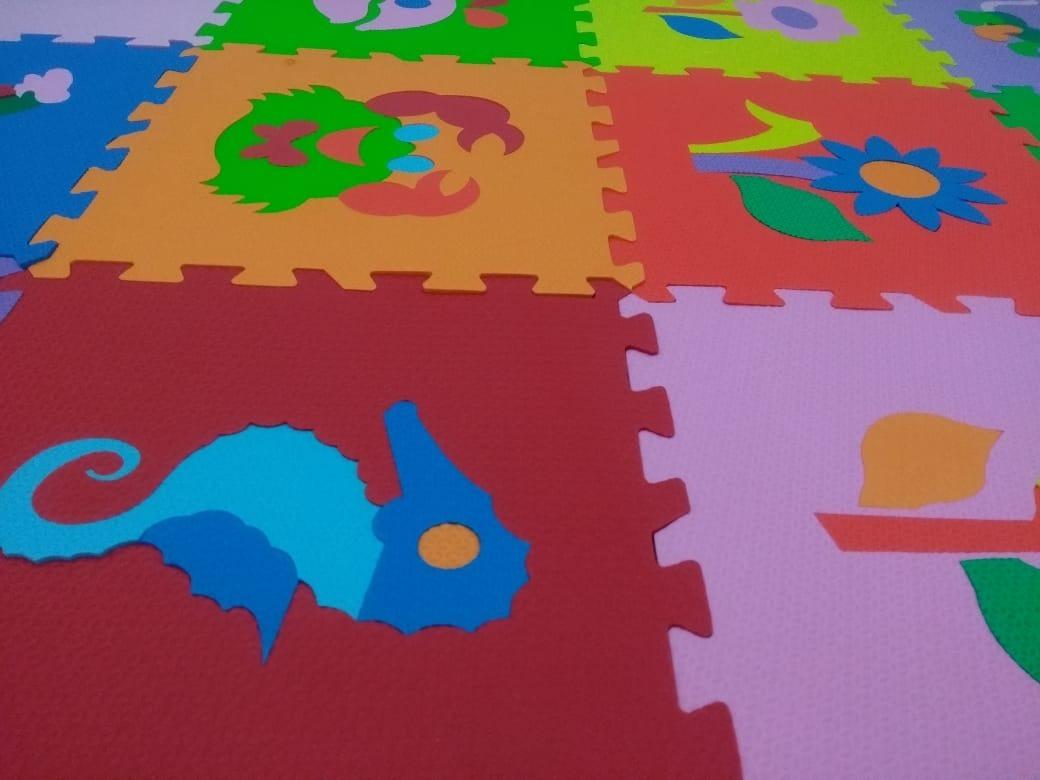 4c5fc76d636 tapete eva infantil tatame desenhos colorido 18 peças. Carregando zoom.