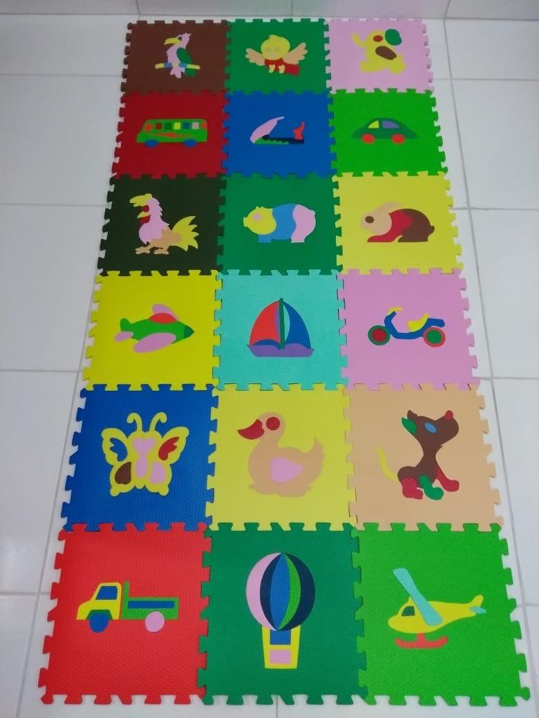 9004e5c54f1 tapete eva infantil tatame figuras colorido 18 peças. Carregando zoom.