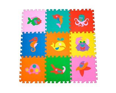 90f5e72a884 Tapete Eva Infantil Tatame Figuras Colorido 18 Peças - R  72