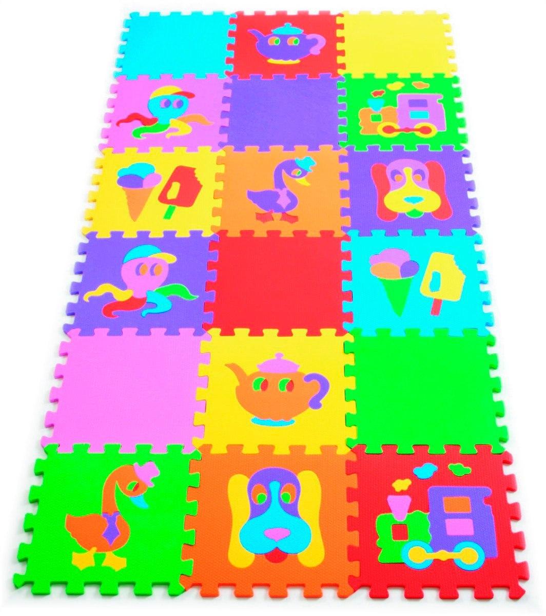 90909b3a4cc tapete eva infantil tatame figuras colorido 18 peças mingone. Carregando  zoom.