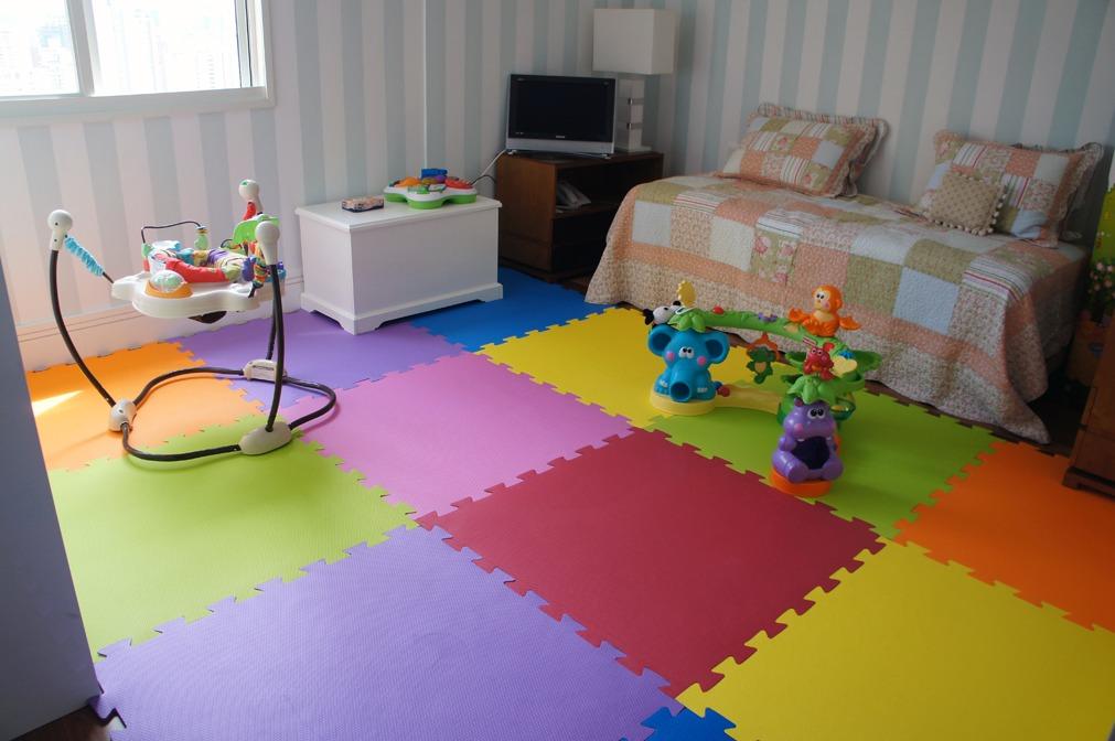 Tapete Eva Kit Quarto Com 4 M² R$ 110,00 em Mercado Livre ~ Tapetes Para Quarto De Bebe Eva