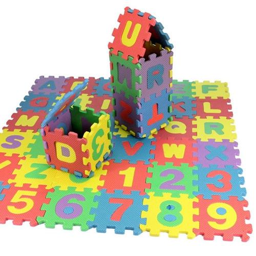 tapete foamy didáctico 183 cm letras números envío gratis
